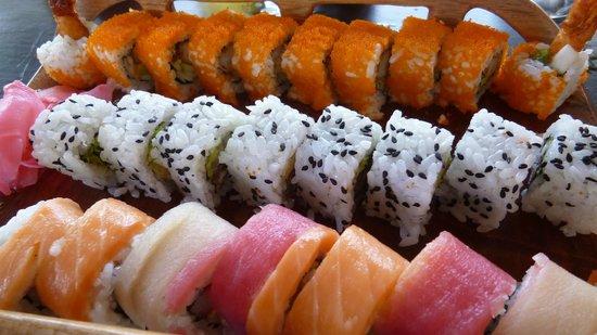 Tengoku Japanese Restaurant:                   rainbow roll and more