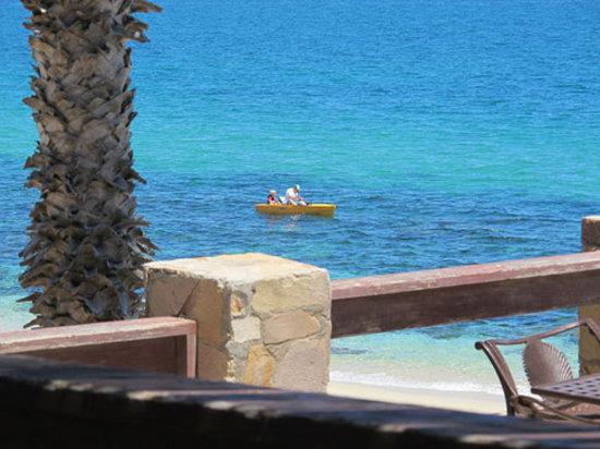Rancho Leonero Resort: Father and son kayak fishing