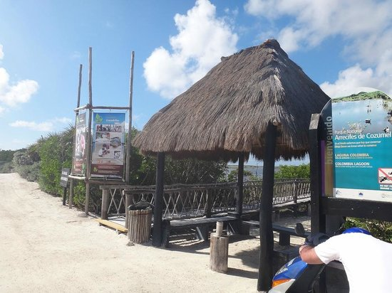 Punta Sur Eco Beach Park:                                     Entry to lagoons