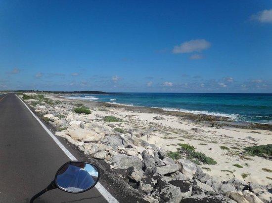 Punta Sur Eco Beach Park:                                     Punta Sur coast line