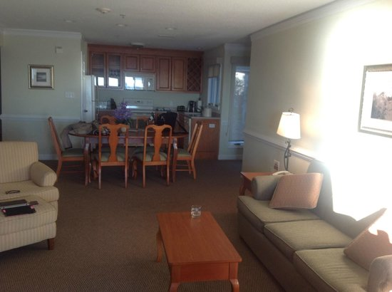 Kingsmill Resort:                   photo from living room looking into kitchen & dining