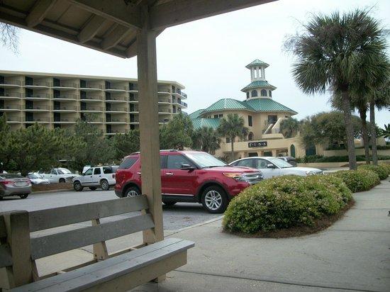 Sandestin Golf and Beach Resort:                   waiting on free shuttle