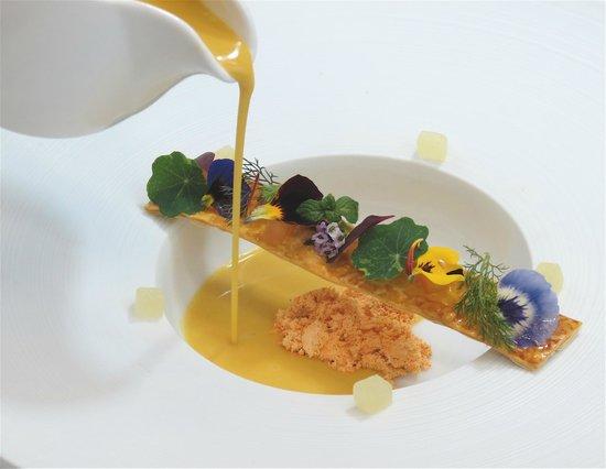 Hourglass Brasserie: Butternut Squash Veloute, Powdered Chorizo