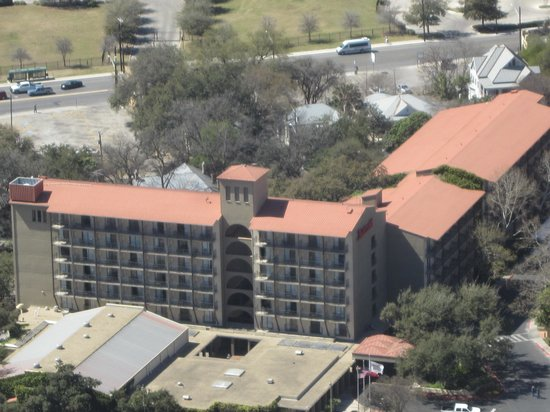 Marriott Plaza San Antonio:                                     view from the Towers