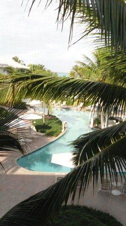 Ocean Club Resort:                   View from building I, 3rd floor, looking towards ocean