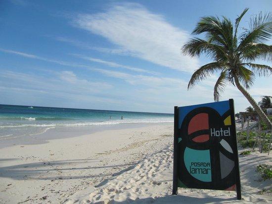 Posada Lamar :                   Hotel beach