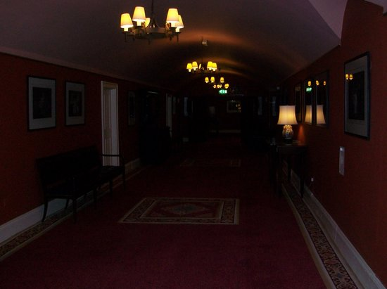 Dromoland Castle Hotel:                   Hallway leading to the room