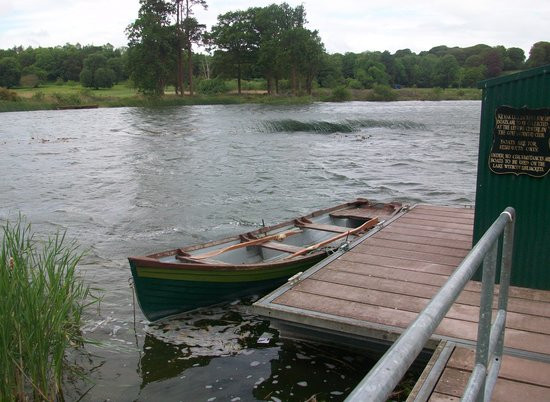 Dromoland Castle Hotel:                   The lonely boat