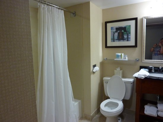 Wyndham Garden Philadelphia Airport:                   Bathroom was nice size