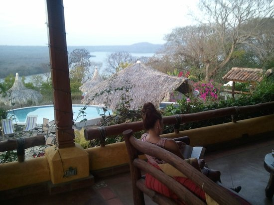 Hacienda Puerta Del Cielo Eco Spa:                   Overlooking the pool.