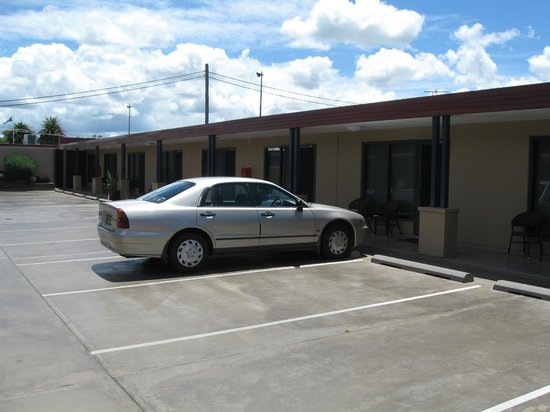 Club Motel:                   Our car outfront of our room