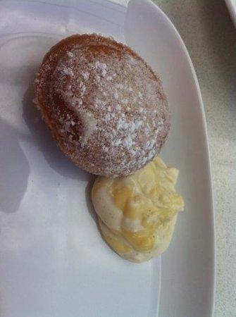 JOEY Eau Claire:                   Italian donut with mascarpone lemon cream..... yummy!