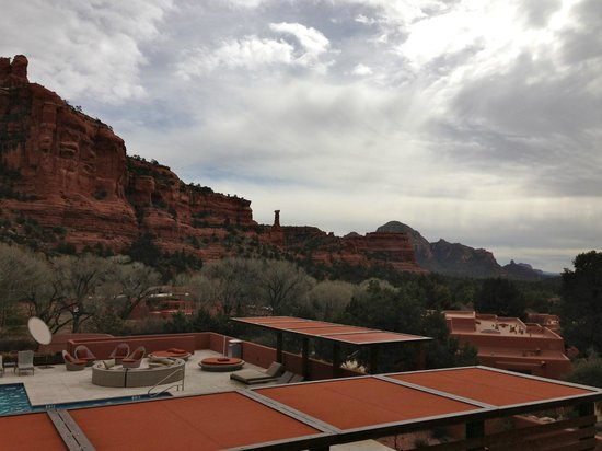 Enchantment Resort:                                     Surrounding red rocks.
