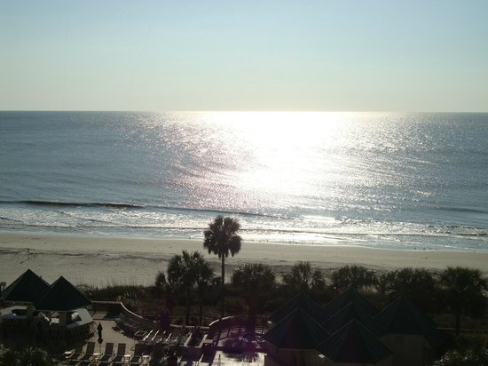 Hilton Head Marriott Resort & Spa:                                     view from ocean front room 6th floor