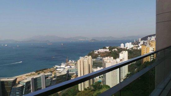 The T Hotel:                   вид с балкона ресторана отеля