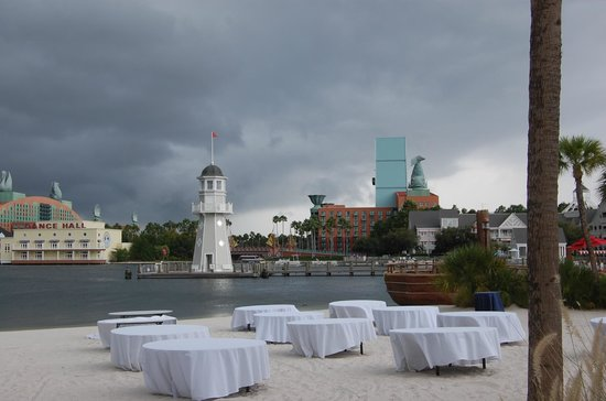 Disney's Beach Club Villas:                   The lighthouse where you catch the boat to Epcot, Boardwalk or Hollywood Studi