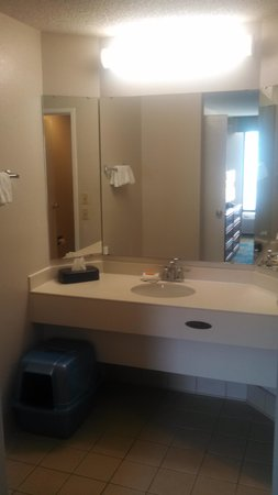 La Quinta Inn Chattanooga / Hamilton Place : Large Bathroom Area with Separated sink/shower/toilet