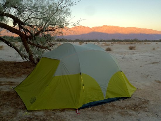 Furnace Creek Resort & Fiddler's Campground :                                     Camping at Furnace Creek, Site 119
