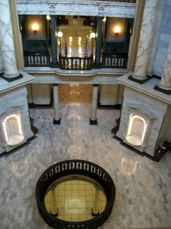 Jackson, MS: view from the upper floor looking down