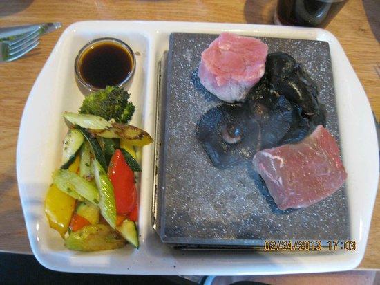 Cafe Izone:                   Lamb and Pork with mushrooms