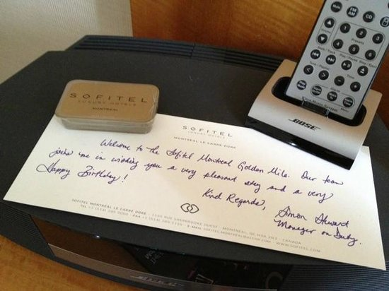 Sofitel Montreal Golden Mile: Birthday message