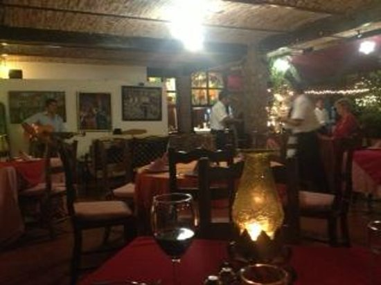 Los Cuatro Vientos Hotel:                   Dinner at Chez Elena, the garden restaruant