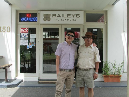 Baileys Motel:                   At the entrance of the Bailey's Motel Hotel