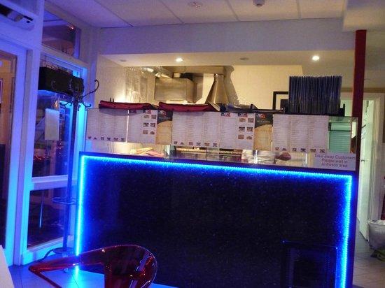 Baileys Motel :                   The Bar Counter inside Cafe Bellavista