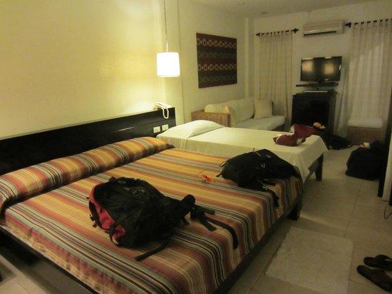 Boracay Beach Resort:                   Garden room with extra bed.
