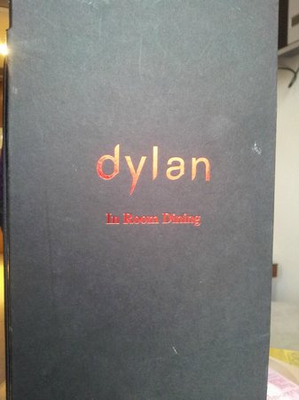 Dylan Hotel :                   STAINED, SPATTERED MENUS