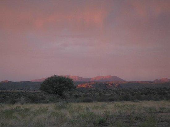 Auas Safari Lodge:                                     Sundown at Auas lodge