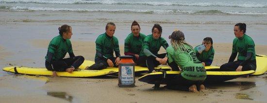 Big Green Surf School: Working the magic!