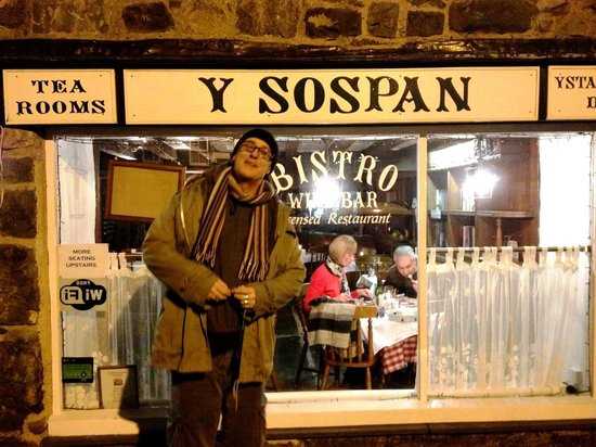 Y Sospan Cafe:                                     Full and contented