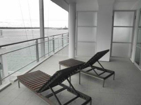 Hilton Auckland:                                     balcony