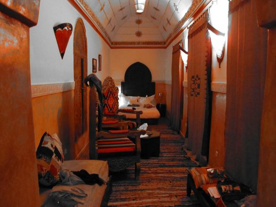 Riad Ta'achchaqa:                   One of the downstairs rooms
