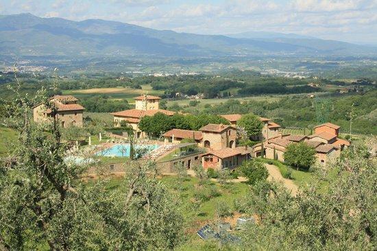 Fontebussi Tuscan Resort:                   utsikt över anläggningen