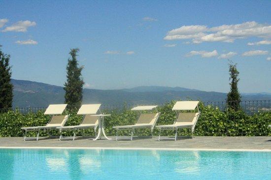 Fontebussi Tuscan Resort:                   från en av poolerna