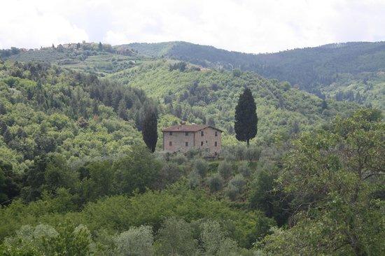 Fontebussi Tuscan Resort:                   utsikt från vår lägenhet