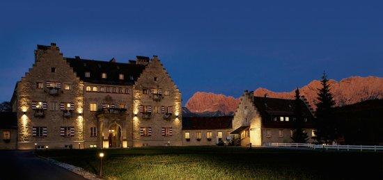 Krun, Niemcy: Das Kranzbach bei Nacht
