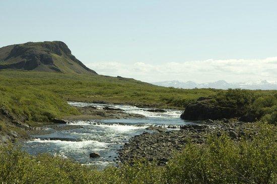 Vogur Country Lodge: Flekkudalsá River
