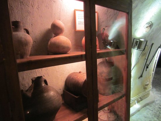 Wine Museum Koutsogiannopoulos:                   ancient wine bottles