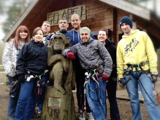 Go Ape Wendover:                   Our Group at Go Ape