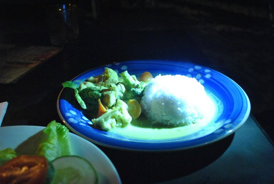 Little Lylias Chillout Cafe :                   Green Curry Chicken RM 12 or so, taste good