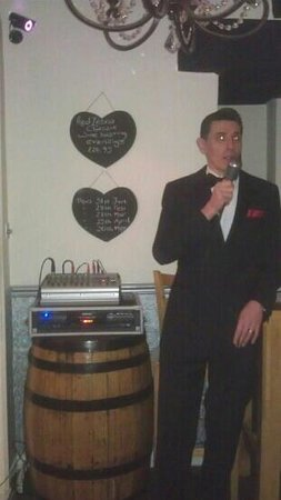 Red Zebra Wine Bar:                                                       Frankie Styne singing at the Red Zebra eve