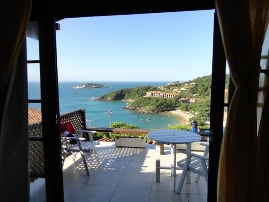 Baia do Joao Pousada:                   vista desde nuestra habitación (nro 4)