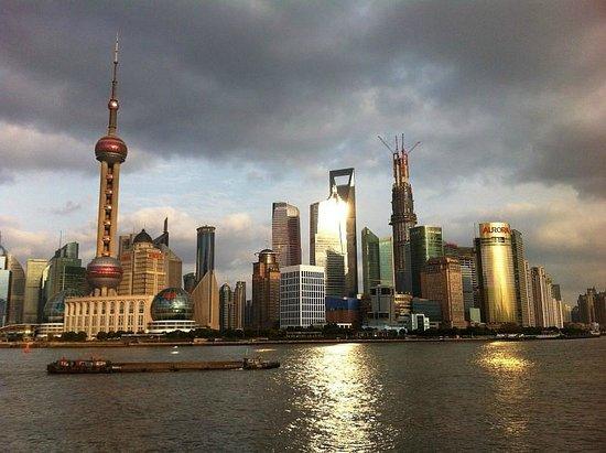 """Le Royal Meridien Shanghai:                   Skyline of Shanghai seen from """"Bund"""""""