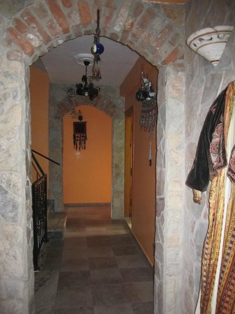 Hotel Nazar:                                     The hallway through the rooms was like a castle