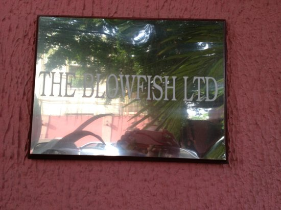 The Blowfish Hotel: Sign