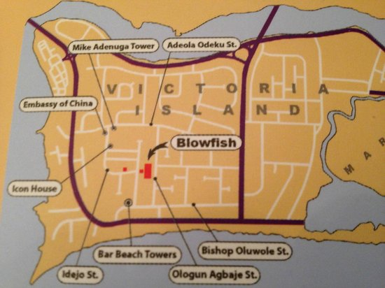 The Blowfish Hotel: Map