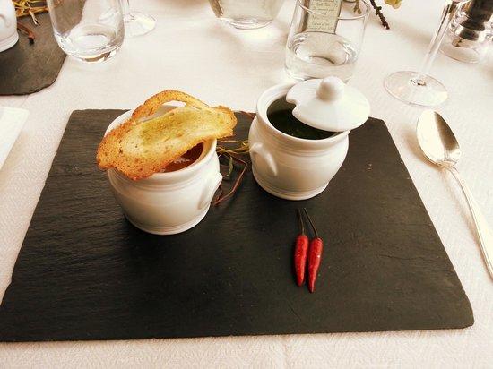 I Capricci di Merion: antipasto: variazione di zuppette